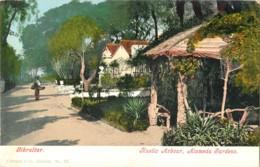 GIBRALTAR RUSTIC ARBOUR ALAMEDA GARDENS J. FERRARY § COMPAGNY PHOTOCHROME 1900 - Gibraltar