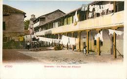 GRANADA UN PATIO DEL ALBAICIN ESPANA PHOTOCHROME 1900 ESPAGNE - Granada