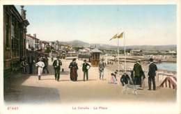 LA CORUNA LA PLAYA ESPANA PHOTOCHROME 1900 - La Coruña