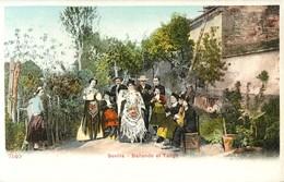 SEVILLA BAILANDO EL TANGO TIPOS GITANOS GITAN GITANO FOLKLORE ESPANA 1900 - Sevilla (Siviglia)