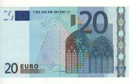 "20 EURO  ""P"" OLANDA  Firma Trichet    G 003 G2   /  FDS - UNC - EURO"
