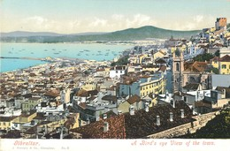 GIBRALTAR BIRD'S EYE VIEW OF THE TOWN J. FERRY § COMPAGNY PHOTOCHROME 1900 - Gibraltar