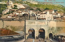 GIBRALTAR CASEMATES GATES AND MOORISH CASTLE PHOTOCHROME 1900 - Gibraltar
