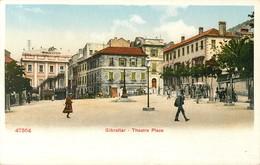 GIBRALTAR THEATRE PLACE PHOTOCHROME 1900 - Gibraltar