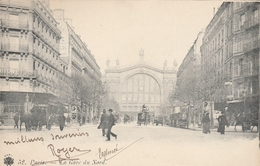 CPA - PARIS - La Gare Du Nord - Cachets Rue Des Sts Pères Sur YT 116 - Cafés, Hôtels, Restaurants
