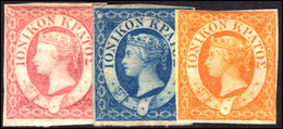 Ionian Islands 1859 Set Unused Without Gum ((1d) Blue With Tiny Tear) - Ionian Islands