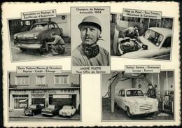 ETTERBEEK :  Place Jourdan  >> Garage André PILETTE  (carte Privée Avec Pub Au Dos) - Etterbeek