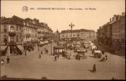 ETTERBEEK :  Place Jourdan  Le Marché   >>  Carte Flion !! N° 1212 - Etterbeek