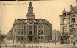 """ETTERBEEK :  Place St Pierre - Ecole Moyenne De L'Etat Marchand De Tabac """"A La Grosse Pipe"""" - Etterbeek"""