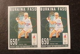 BLOC 2 TIMBRES  NON DENTELE  N°934 1995 Burkina Faso -NEUF - Burkina Faso (1984-...)