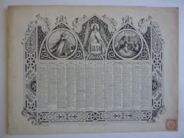 ALMANACH 1850 CALENDRIER ANNUEL Allégorie Religieux  Et Arabesque  Lithographie Imp. V. Janson - Calendriers