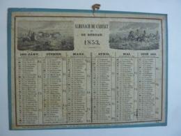 ALMANACH  De Cabinet Et Bureau 1853 CALENDRIER ANNUEL Allégorie  Lithographie - Calendriers