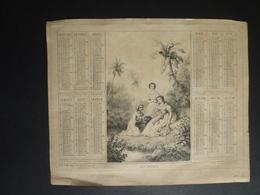 ALMANACH 1869 CALENDRIER ANNUEL  Allégorie Creoles Lithographie  Editeur  A Marcilly  Fevr 2019 ALB 4 - 2 - Calendriers