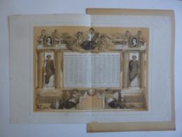 ALMANACH 1869  CALENDRIER ANNUEL  Allégorie Sur La Science Et L'ART Lithographie  Signé  Fortuné - Calendriers