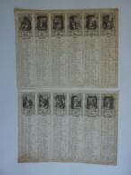 ALMANACH 1853  CALENDRIER ANNUEL 2 Semstriels  12 Allégories Par Mois Avec Signes Du Sodiac - Calendriers