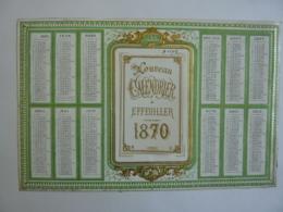 ALMANACH 1869  NOUVEAU CALENDRIER  A EFFEUILLER ANNUEL  Lithographie -chromo - Calendriers