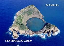 AK Azoren Azores Sao Miguel Vila Franca Campo Islet Aerial View Açores New Postcard - Açores