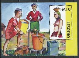 Lesotho. Scott # 1394  MNH S/sheet. Women Trasporting Water 2006 - Lesotho (1966-...)