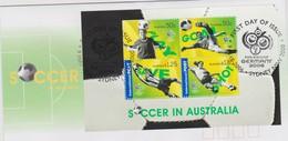 Australia 2006 Soccer In Australia Miniature Sheet,FDC ,A - FDC