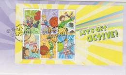 Australia 2009 Let's Get Active Miniature Sheet,FDC ,A - FDC