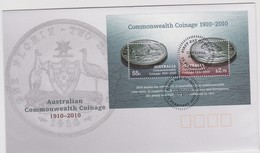 Australia 2010 Commonwealth Coinage Miniature Sheet FDC - FDC