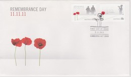 Australia 2011 Remembrance Day, FDC ,A - FDC