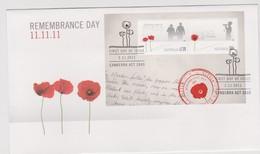 Australia 2011 Remembrance Day, Miniature Sheet,FDC ,A - FDC