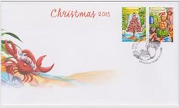 Christmas Island 2015 Christmas FDC,A - Christmas Island
