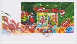 Christmas Island 2015 Christmas Miniature Sheet FDC - Christmas Island