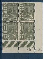 ALGERIE        N° YVERT  :  COIN DATE  N°  45          (  25.02.32  )          NEUF SANS  CHARNIERES - Algérie (1924-1962)