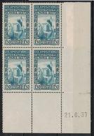 ALGERIE        N° YVERT  :  COIN DATE  N°  129        (  21.06.37  )          NEUF SANS  CHARNIERES - Algérie (1924-1962)