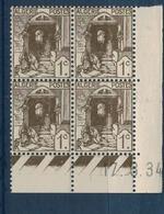 ALGERIE        N° YVERT  :  COIN DATE  N°  34       (  17.03.34  )          NEUF SANS  CHARNIERES - Algérie (1924-1962)
