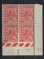 ALGERIE        N° YVERT  :  COIN DATE  N°  39       (  11.-.32 )          NEUF SANS  CHARNIERES - Algérie (1924-1962)