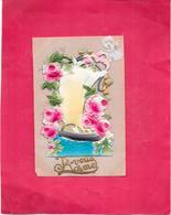 CARTE CELLULOÏD EN RELIEF - JE VOUS AIME - BES1 - - Cartes Postales