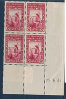 ALGERIE        N° YVERT  :  COIN DATE  N°  128     (  22.06.37 )          NEUF SANS  CHARNIERES - Algérie (1924-1962)