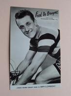 FRED De BRUYNE Challenge Desgrange-Colombo 1956 ( BRYLCREEM ) Café De POSTHOORN Berlare ( Zie Foto's ) ! - Ciclismo