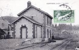 02  - Aisne - CUFFIES - La Gare ( Ligne Soissons - Vic Sur Aisne ) - Autres Communes