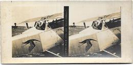 "PHOTO STEREOTYPE GUERRE 14/18 DE "" GUYNEMER DANS SON AVION CHARLES"" - War 1914-18"