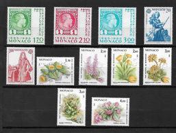 Monaco Timbres De 1985  Neufs**  N°1456 A 1466 - Ungebraucht