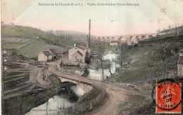 ENVIRONS DE LA CLAYETTE VIADUC DU GOTHARD ET USINE ELECTRIQUE 1907 COLORISEE TBE - Autres Communes