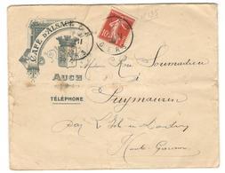 14790 - CAFE D ALSACE - Marcophilie (Lettres)
