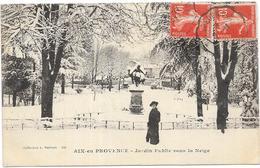 AIX EN PROVENCE: JARDIN PUBLIC SOUS LA NEIGE - Aix En Provence