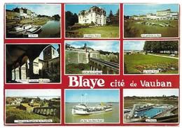 Blaye Cité De Vauban Miltivues Cachet Souvenir De La Citadelle De Blaye - Blaye