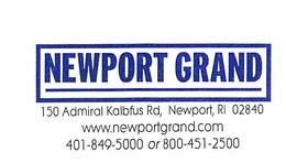 Newport Grand Casino - Newport RI - Paper Temporary Membership Card (Member Name/Adr Hidden In Scan) - Casino Cards