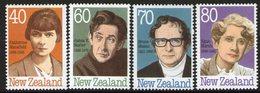 NEW ZEALAND, 1989 AUTHORS 4 MNH - New Zealand