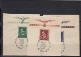 GG Generalgouvernement MiNr. 117/119 , Gestempelt Sonderstempel HHZ - Besetzungen 1938-45