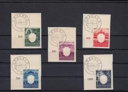 GG Generalgouvernement MiNr. 105-109 Gestempelt Alle 5 Marken Eckrand E1 - Besetzungen 1938-45