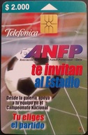 Telefonkarte Chile - Fußball - Chili