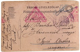1917 Feldpost Korrespondenz Tabori Levelezolap Nach Ungarn - Andere-Europa