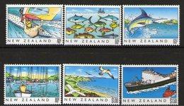 NEW ZEALAND, 1989 HERITAGE-THE SEA 6 MNH - New Zealand